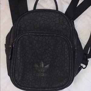 Adidas faux leather mini backpack